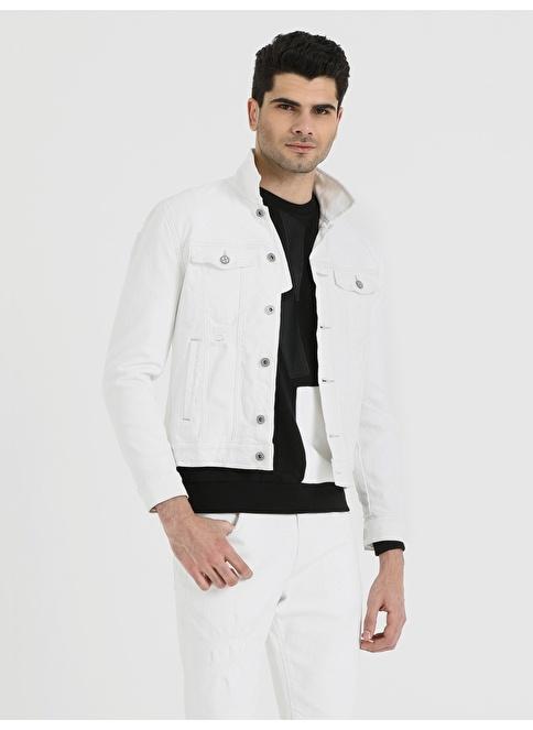 Loft Jean Ceket Beyaz